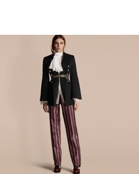 Burberry Bell Sleeved Military Wool Jacket