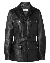 Saint Laurent Belted Leather Jacket
