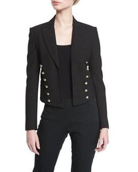 Burberry Cropped Military Jacket Black