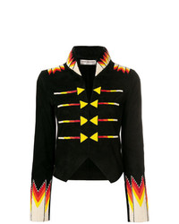 Jessie Western Cropped Beaded Military Jacket