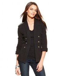 INC International Concepts Embellished Open Front Military Jacket