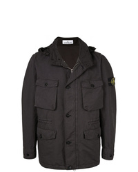 Stone Island Lightweight Jacket With Removable Hood