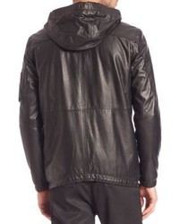 Diesel Black Gold Londolyn Military Leather Hooded Jacket | Where ...