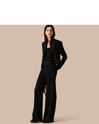 Burberry Military Wool Silk Twill Jacket