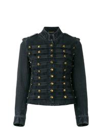 Saint Laurent Officer Military Denim Jacket