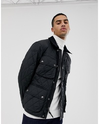Polo Ralph Lauren Quilted Biker Jacket With In Black