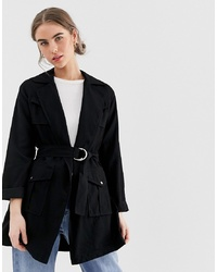 New Look Shacket In Black