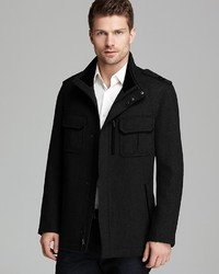 Cole Haan Twill Military Coat