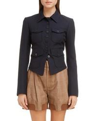Chloé Virgin Wool Cutaway Jacket