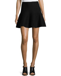 1 STATE 1state Cotton Flounce Mini Skirt Black