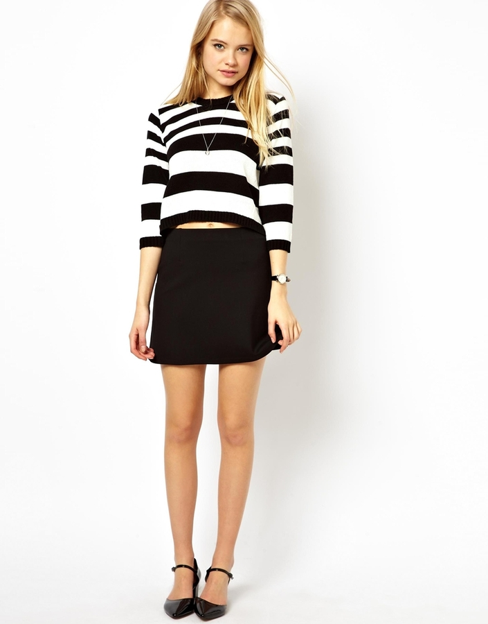 black mini skirt asos a line mini skirt in ponte pink