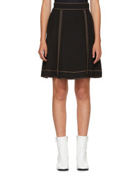 Marc Jacobs Black Crepe Miniskirt