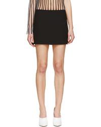 Acne Studios Black Prato Short Skirt