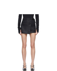 1017 Alyx 9Sm Black Recycled Nylon Wrap Miniskirt