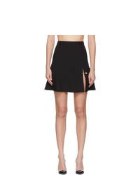 Versace Black Safety Pin Miniskirt