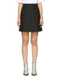 Carven Black Wrap Miniskirt