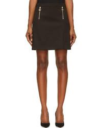 Versace Black Zipped Mini Skirt