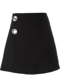 Marni Embellished Button A Line Skirt