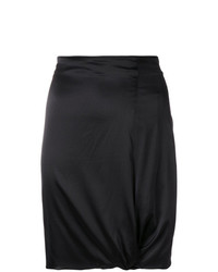 Giorgio Armani Vintage Gathered Detail Fitted Skirt
