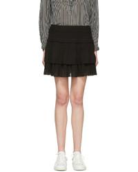 Isabel marant etoile black kamelie miniskirt medium 1250348