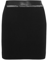 Sandro Joyau Chain Embellished Stretch Jersey Mini Skirt