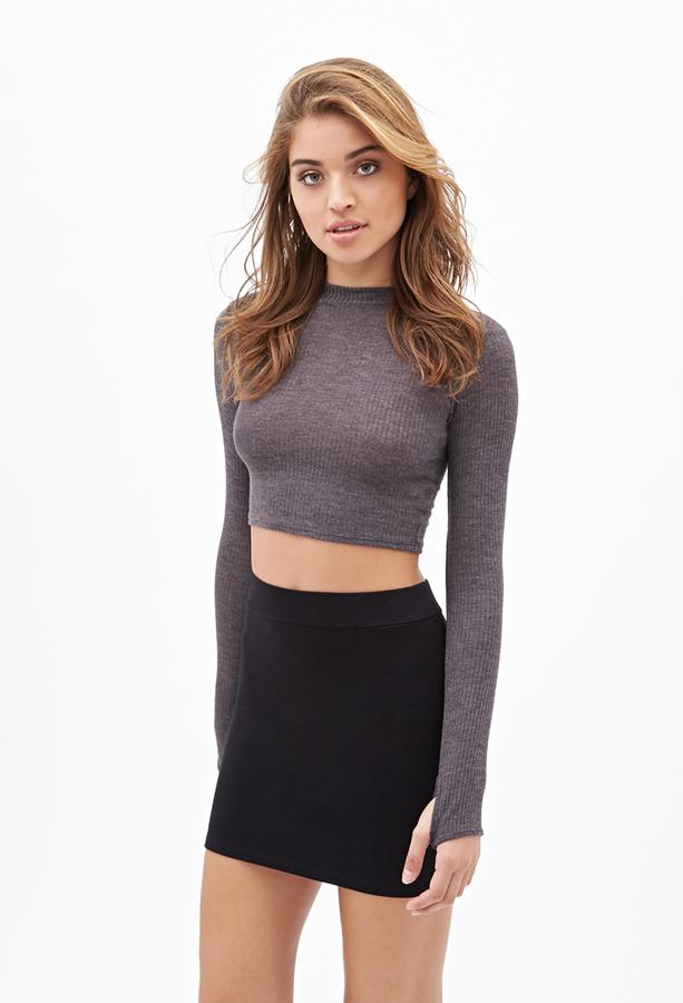 22e6e4fb0753 Forever 21 Knit Bodycon Skirt