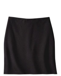 Mossimo Petites Ponte Pencil Skirt Black Sp