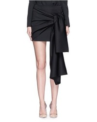 Stella McCartney Peggy Sash Tie Tuxedo Wool Mini Skirt