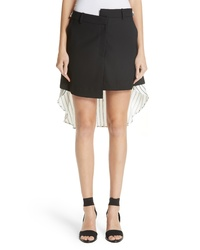 Monse Pinstripe Back Skirt