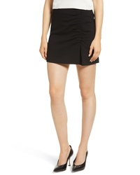 1 STATE Ruched Detail Stretch Ponte Miniskirt