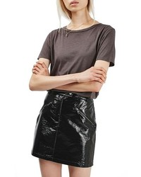 Slick coated miniskirt medium 1195862