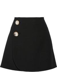 Marni Wool Wrap Mini Skirt Black