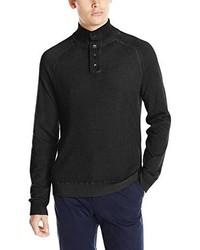 Calvin Klein Jeans Cloud Wash Waffle Mock Neck Sweater