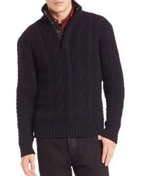 Polo Ralph Lauren Mockneck Merino Wool Sweater