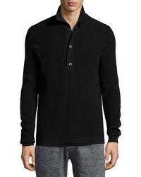 Theory Villen Mock Neck Sweater Black