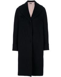 Jil Sander Navy Oversized Single Breasted Coat