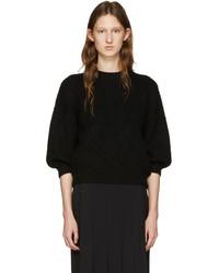 Black crewneck sweater medium 952792