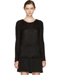 Black mohair loose stitch sweater medium 5082254