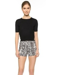 Tamara Mellon Short Sleeve Cashmere Sweater
