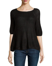 525 America Short Sleeve Soft Knit Top Black