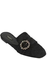 Dolce & Gabbana 10mm Jackie Swarovski Jacquard Mules