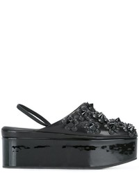 Fendi Flower Appliqu Flatform Mules