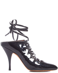 Givenchy Lace Up Patent Leather Mules