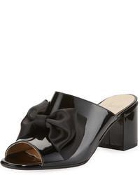 Amalfi by Rangoni Lanzarote Patent Bow Mule Black