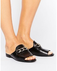 Mango Metal Buckle Open Toe Mule