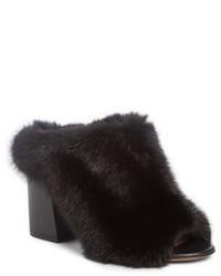Givenchy Paris Genuine Mink Fur Mule