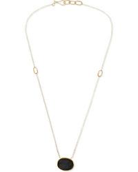 Melissa Joy Manning 14 Karat Gold Agate Druzy Necklace