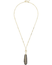 Jacquie Aiche 14 Karat Gold Diamond And Horn Necklace