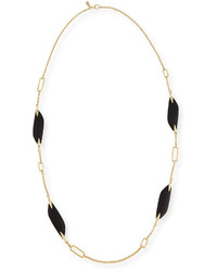 Alexis Bittar Reversible Liquid Link Station Necklace In Black 42