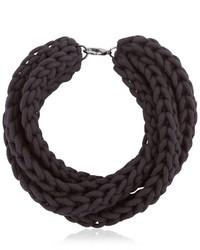 Alienina Altrove Brass Cotton Braided Necklace